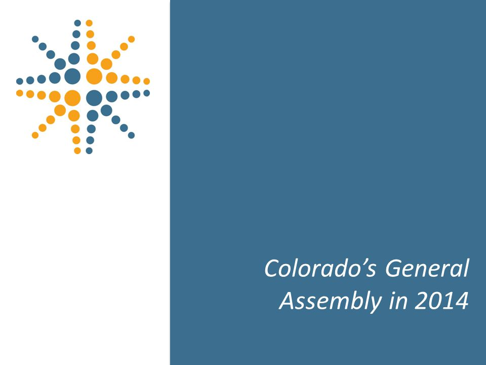 12 Colorado's General Assembly in 2014