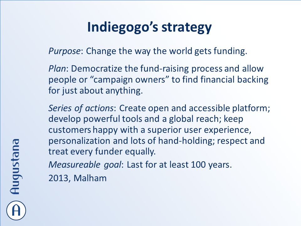 Purpose: Change the way the world gets funding.