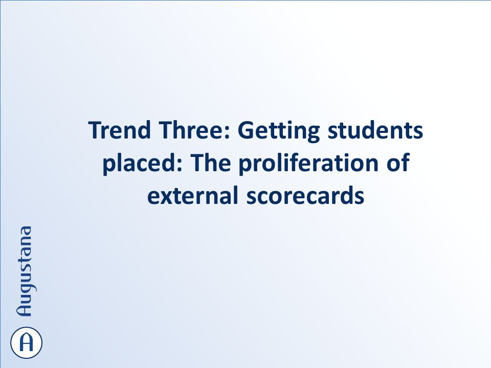 Trend Three: Getting students placed: The proliferation of external scorecards