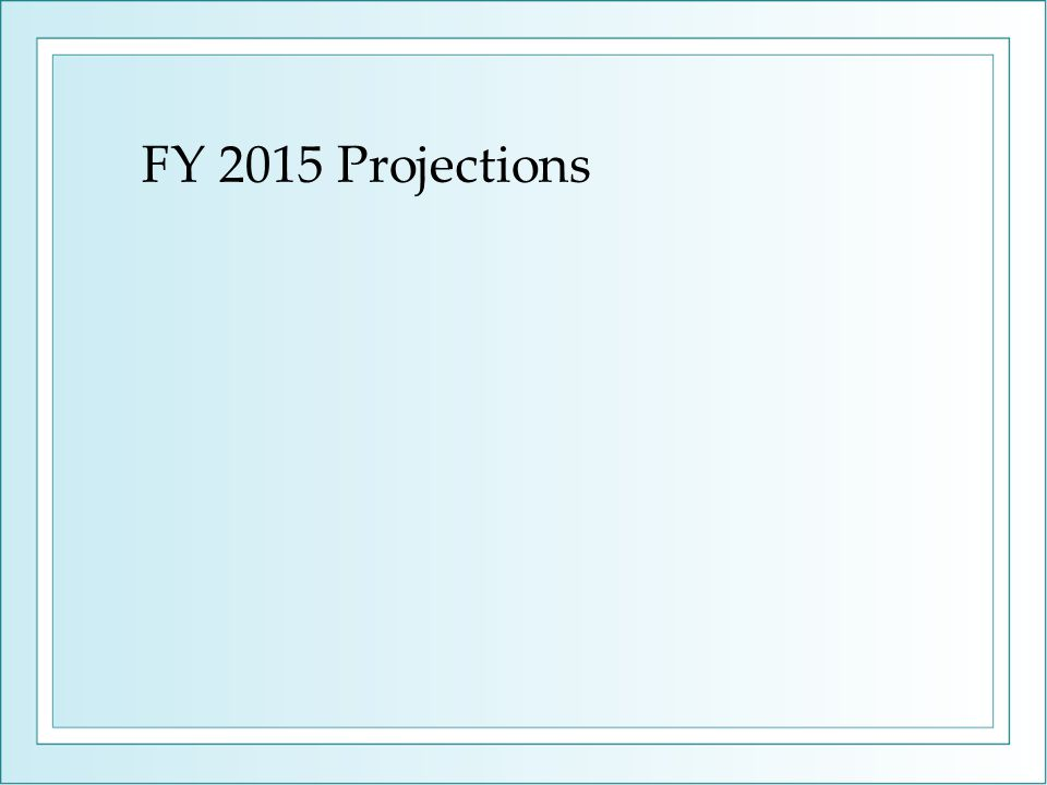 FY 2015 Projections