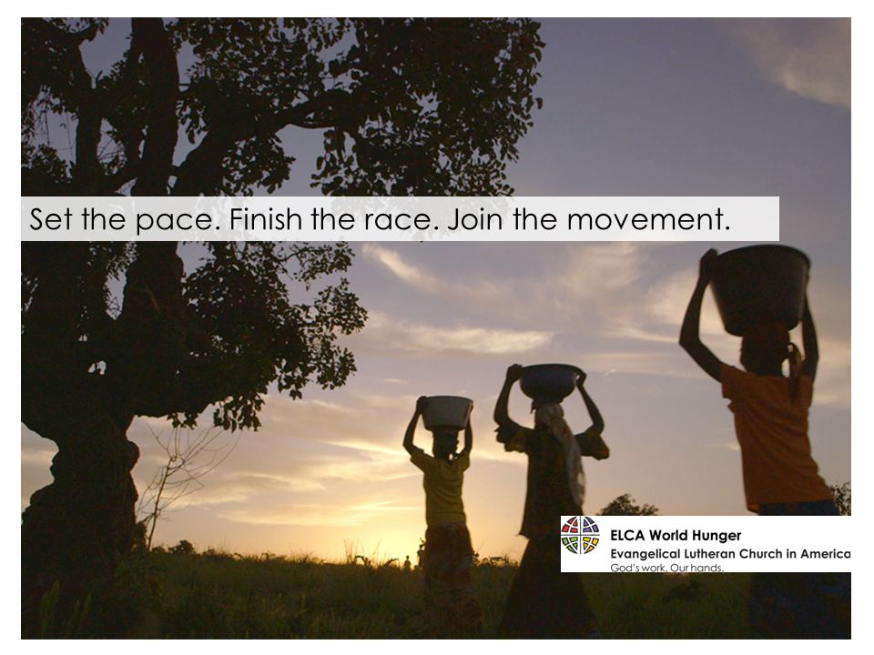 Set the pace. Finish the race. Join the movement.