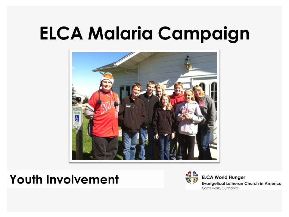 Youth Involvement ELCA Malaria Campaign