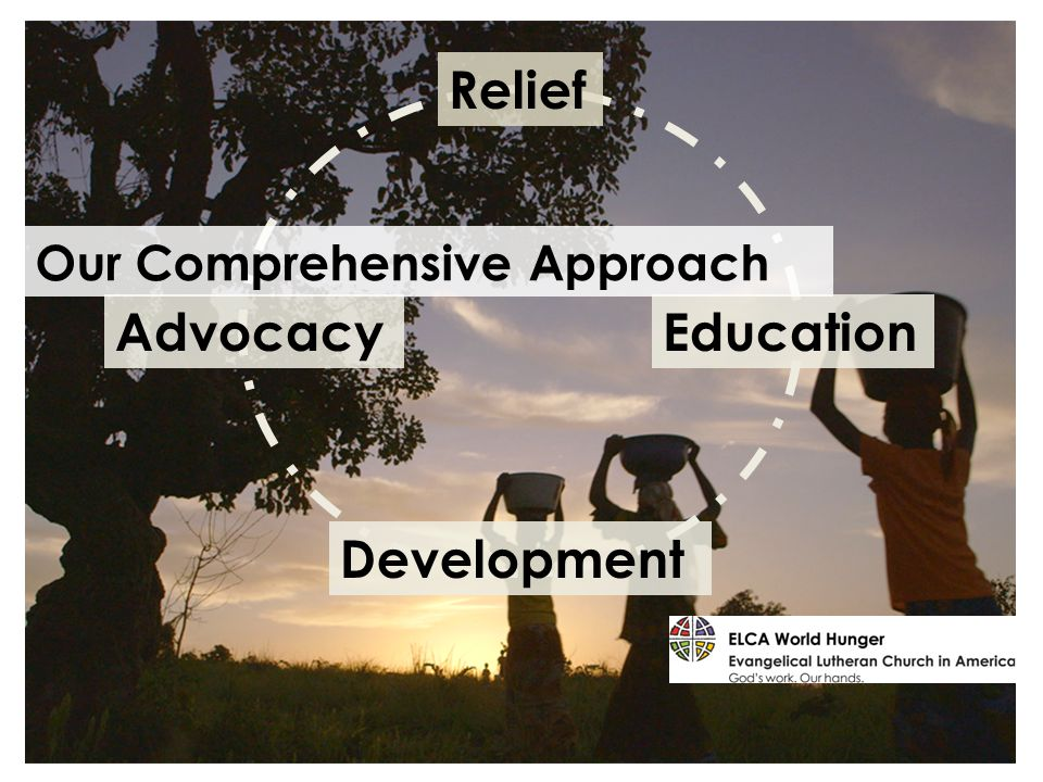 Development EducationAdvocacy Relief Our Comprehensive Approach