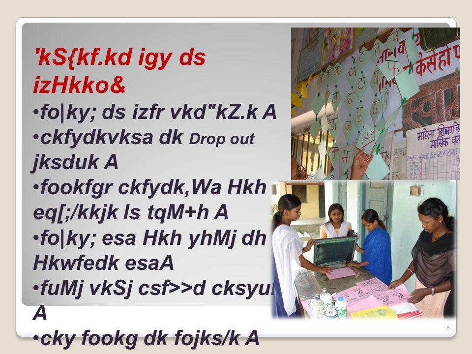 6 kS{kf.kd igy ds izHkko& fo|ky; ds izfr vkd kZ.k A ckfydkvksa dk Drop out jksduk A fookfgr ckfydk,Wa Hkh eq[;/kkjk ls tqM+h A fo|ky; esa Hkh yhMj dh Hkwfedk esaA fuMj vkSj csf>>d cksyuk A cky fookg dk fojks/k A csesy fookg ij jksd A