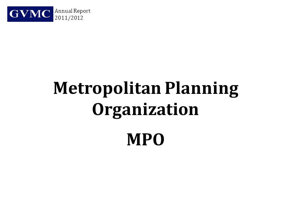 Metropolitan Planning Organization MPO