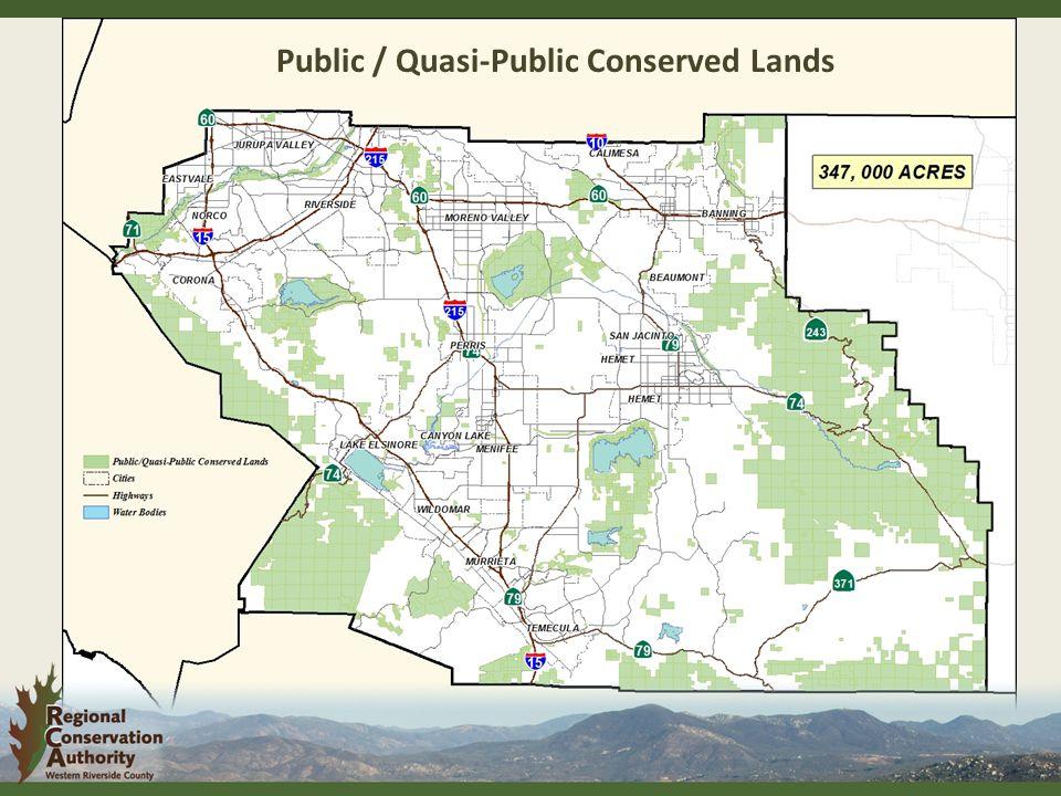 Public / Quasi-Public Conserved Lands