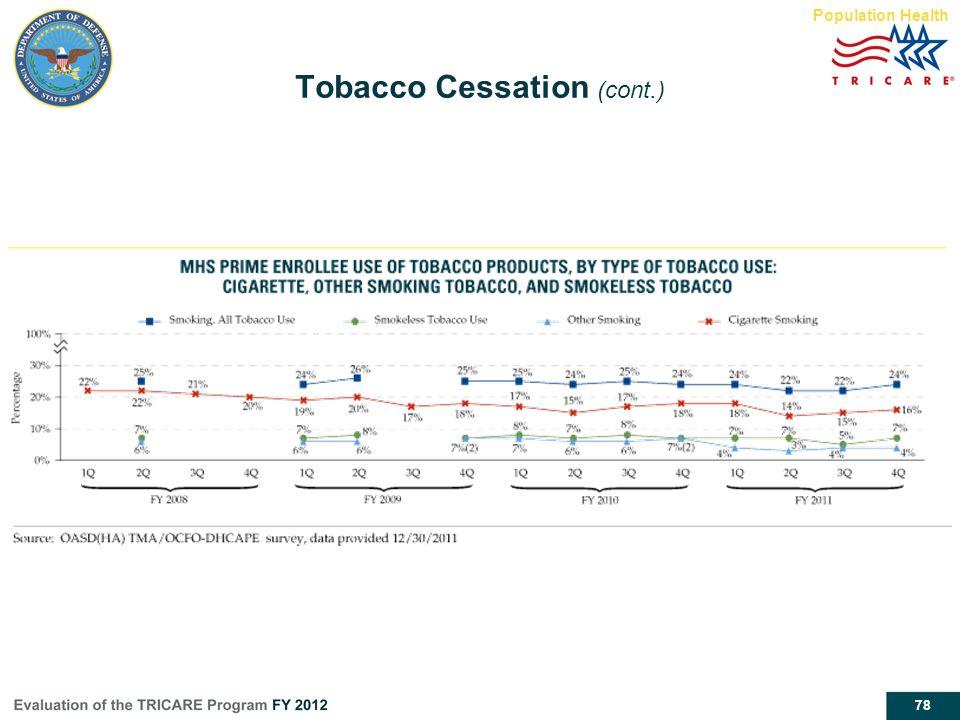 78 Tobacco Cessation (cont.) Population Health