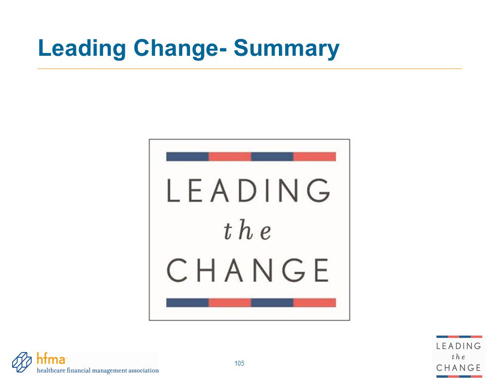 Leading Change- Summary 105