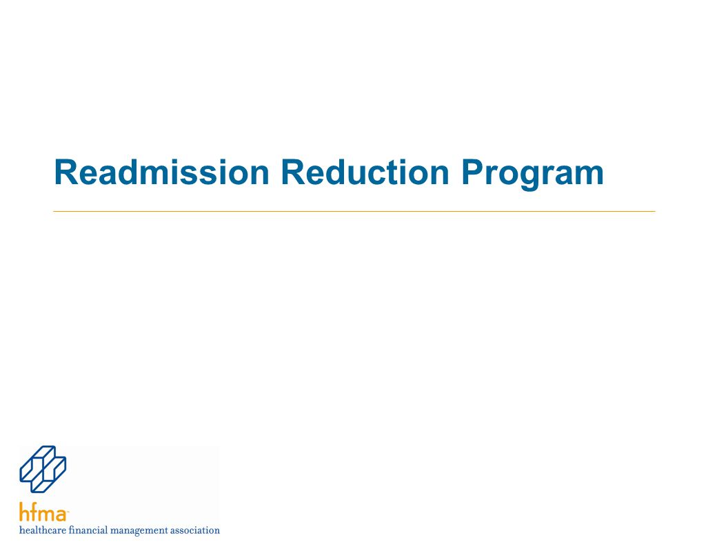 Readmission Reduction Program