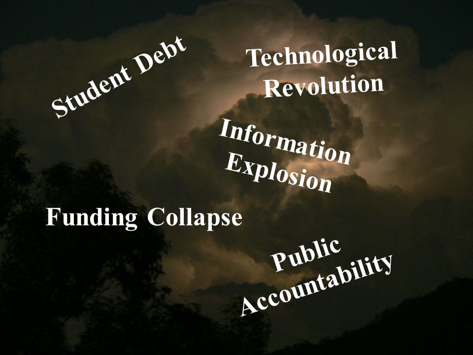 Student Debt Funding Collapse Technological Revolution Information Explosion Public Accountability