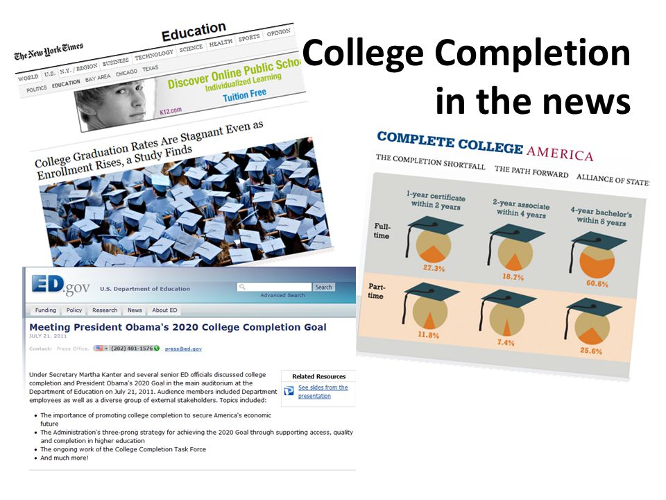 College Completion in the news