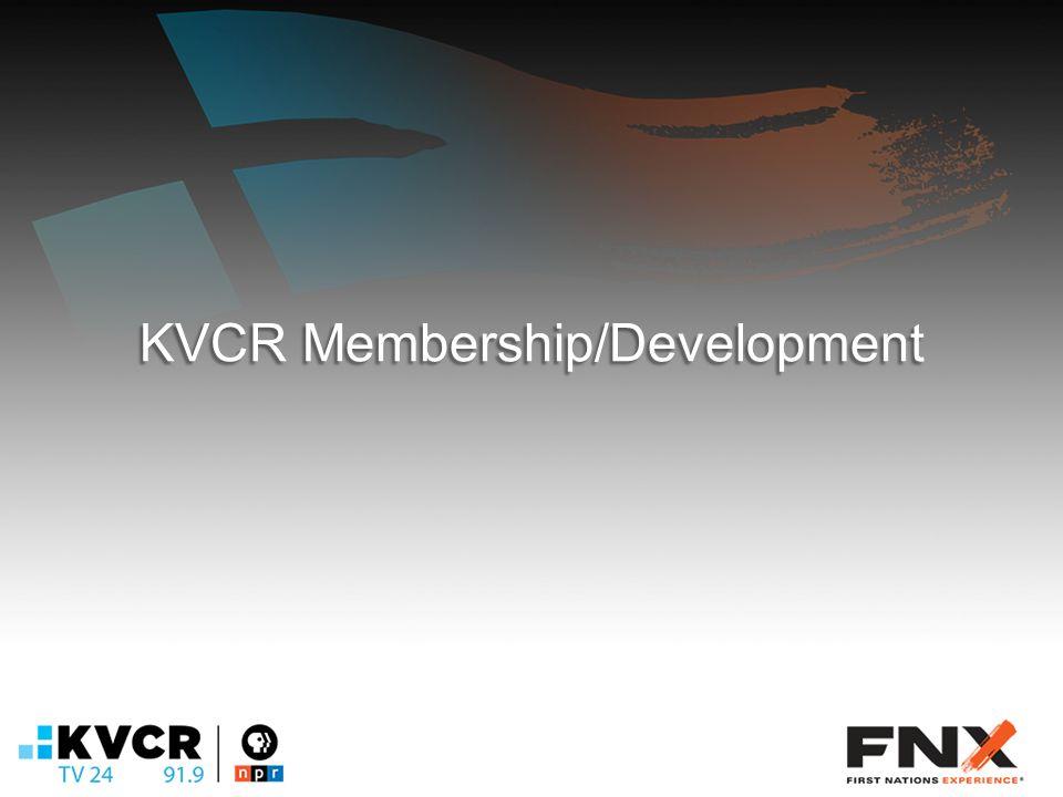 KVCR Membership/Development