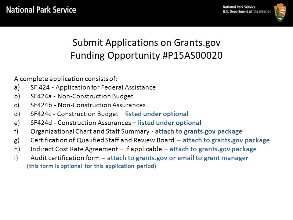 Grant Application (cont.) SHPOs must use HPF Online to complete their: Cumulative Products Table Projections Anticipated activities for FY15 in the Project Activity Database Reports.