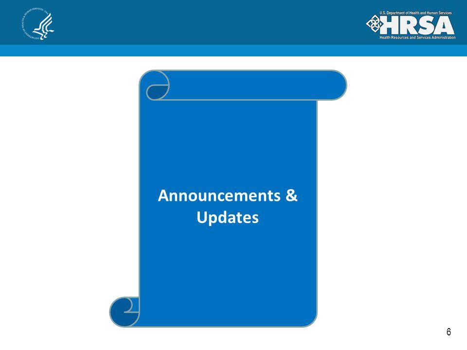 6 Announcements & Updates