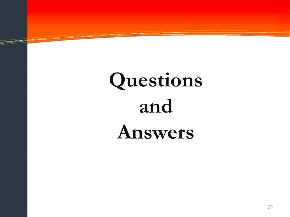 Questions and Answers 39