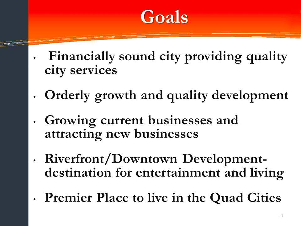 5 Goal 1 Financially Sound City Providing Quality City Services