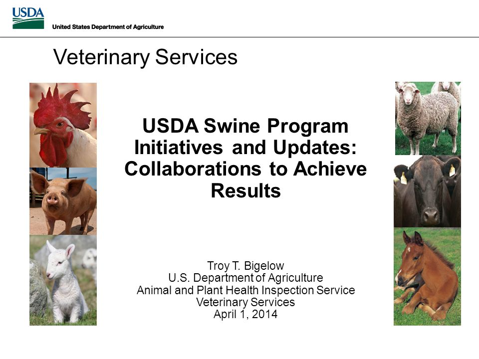 USDA Swine Program Initiatives and Updates: Collaborations to Achieve Results Troy T.