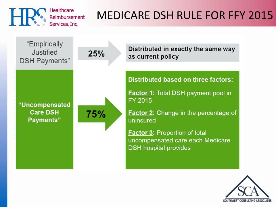 MEDICARE DSH RULE FOR FFY 2015