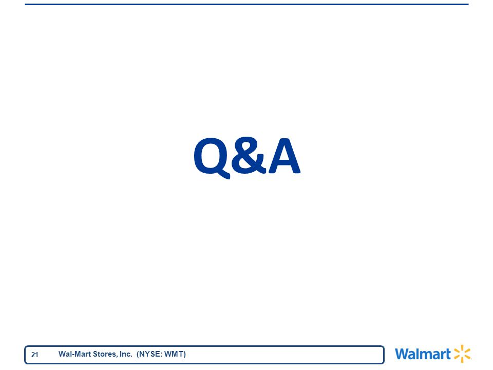 Wal-Mart Stores, Inc. (NYSE: WMT) 21 Q&A