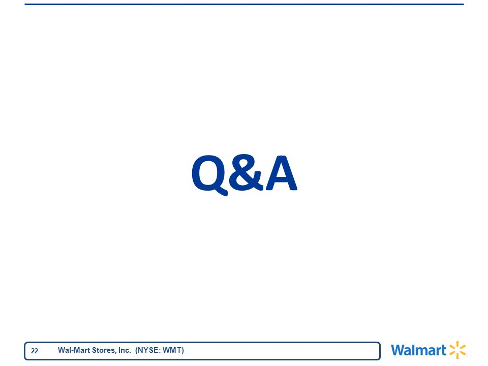 Wal-Mart Stores, Inc. (NYSE: WMT) 22 Q&A