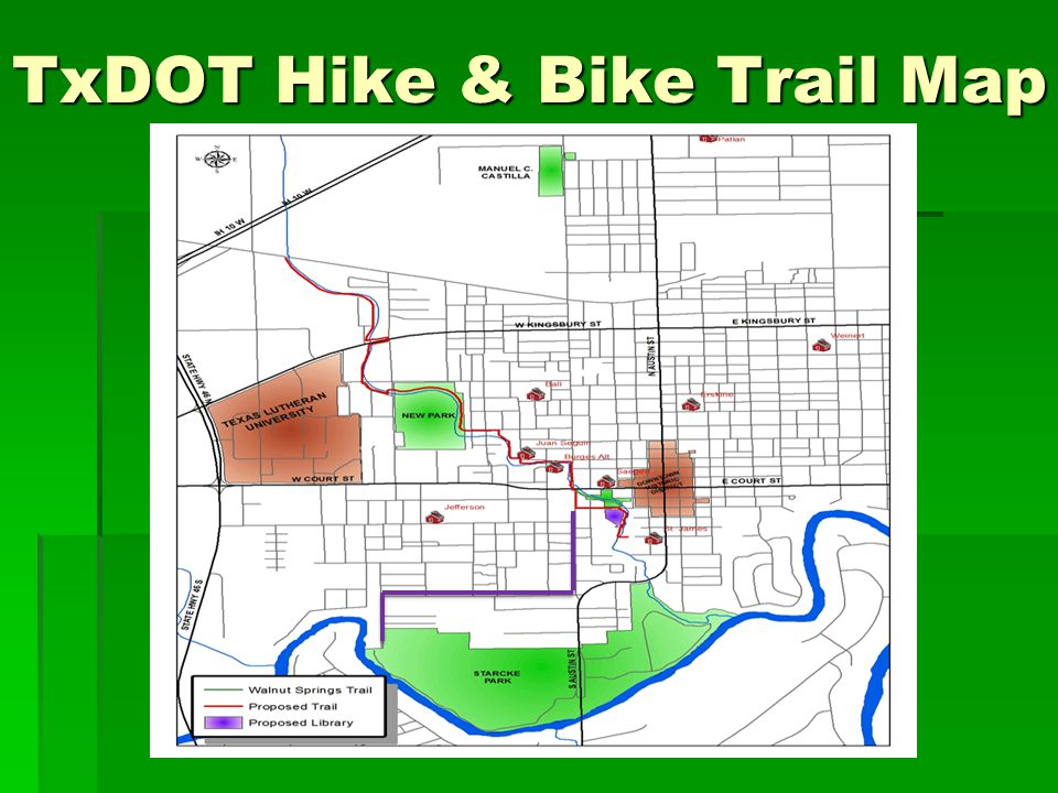 TxDOT Hike & Bike Trail Map
