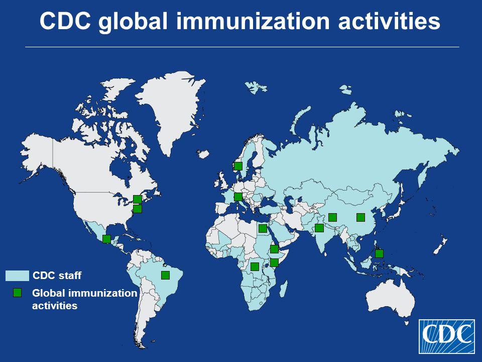 CDC global immunization activities CDC staff Global immunization activities