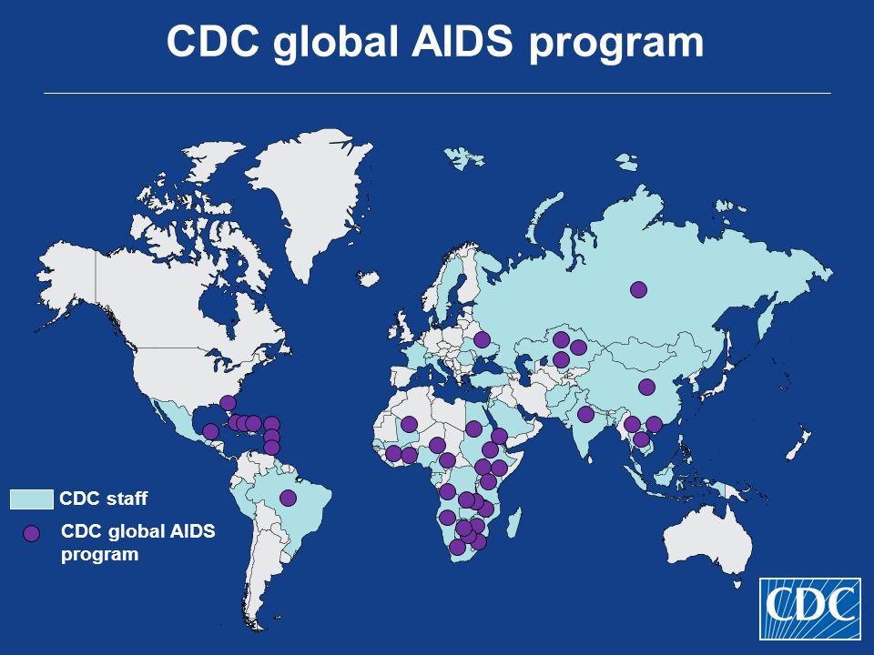 CDC global AIDS program CDC staff CDC global AIDS program