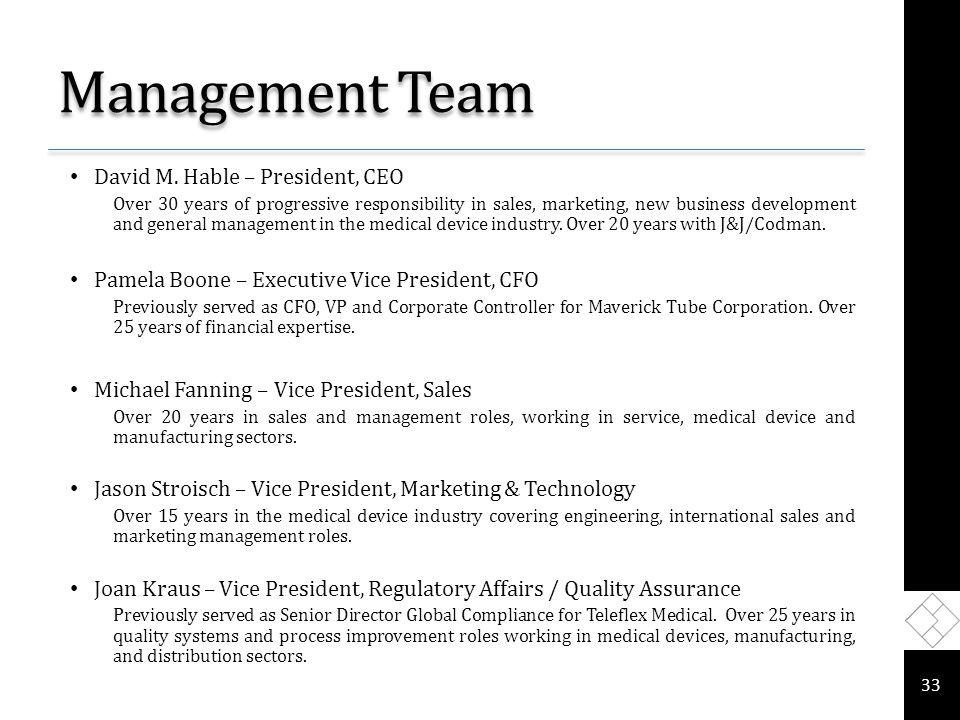 Management Team David M.