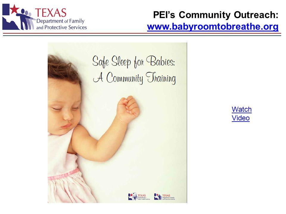 PEI's Community Outreach: www.babyroomtobreathe.org Watch Video