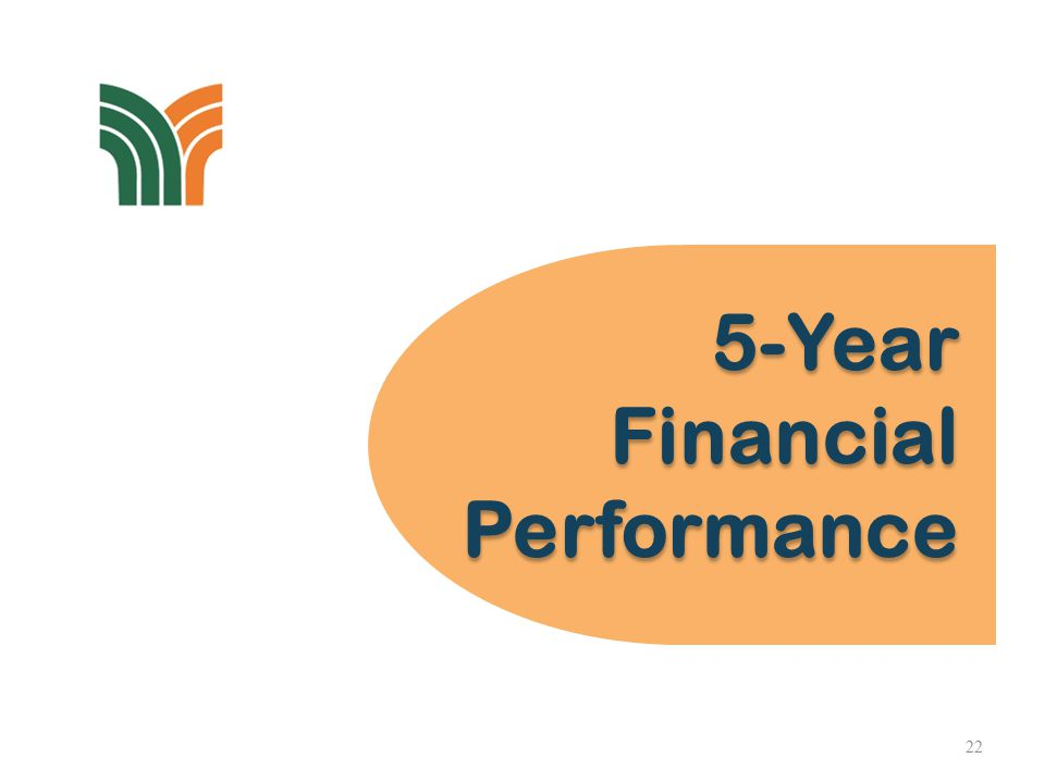 5-Year Financial Performance 5-Year Financial Performance 22