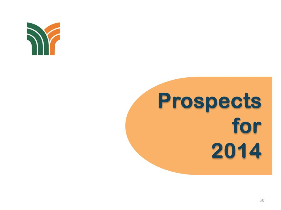 Prospects for 2014 Prospects for 2014 30