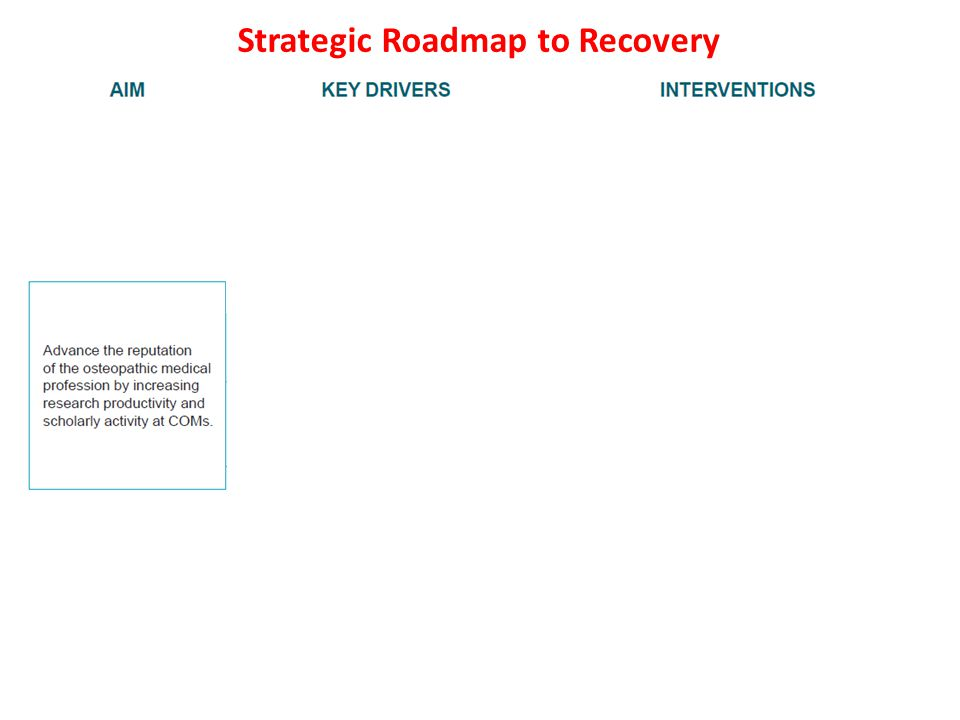 Strategic Roadmap to Recovery