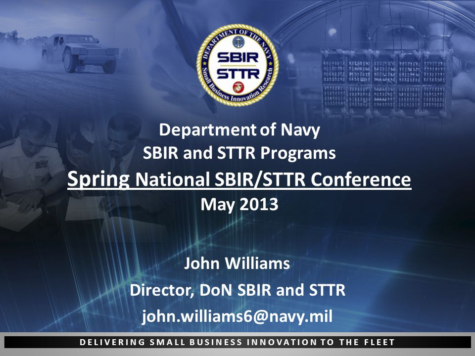 DELIVERING SMALL BUSINESS INNOVATION TO THE FLEET 12 www.navysbirsearch.com Free!