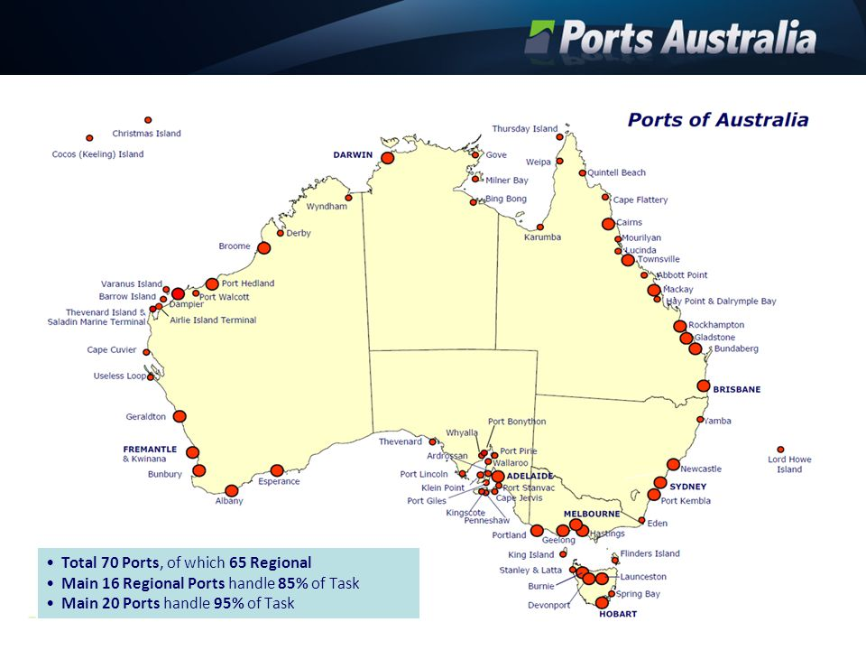 The Ports Master Planning Process Long term integrated master plans for ports guided by best practice Facilitation by range of support mechanisms expert panel and proactive agency support BITRE BREE Recognition and ownership of port plans by governments supply chain stakeholders communities