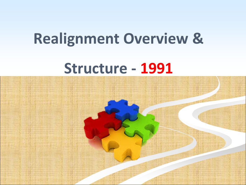 Realignment Overview & Structure - 1991
