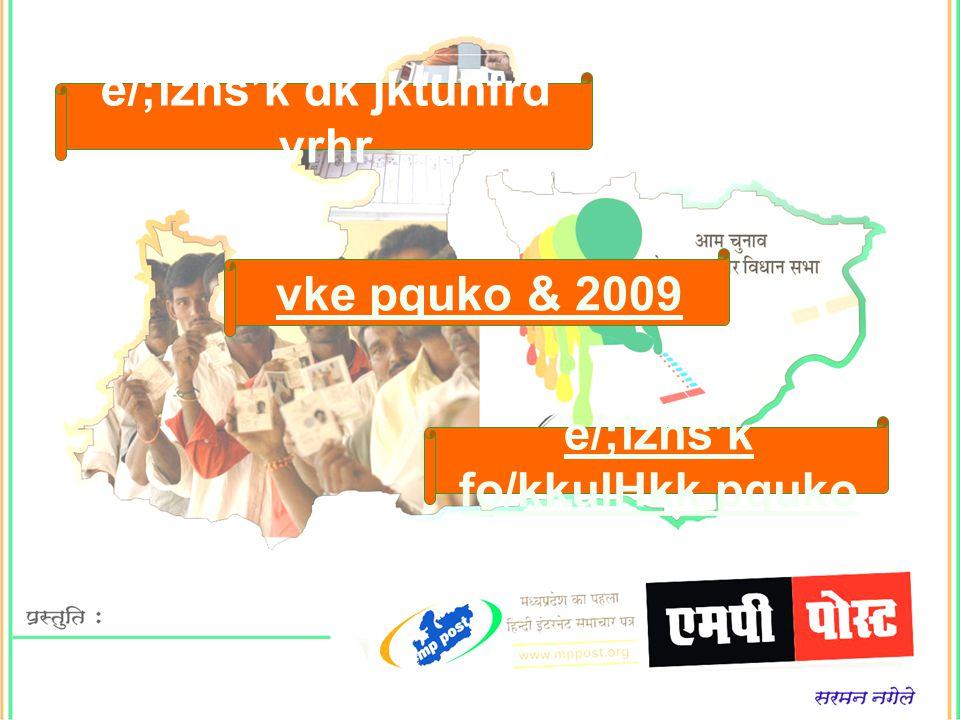 e/;izns'k fo/kkulHkk pquko e/;izns'k dk jktuhfrd vrhr vke pquko & 2009