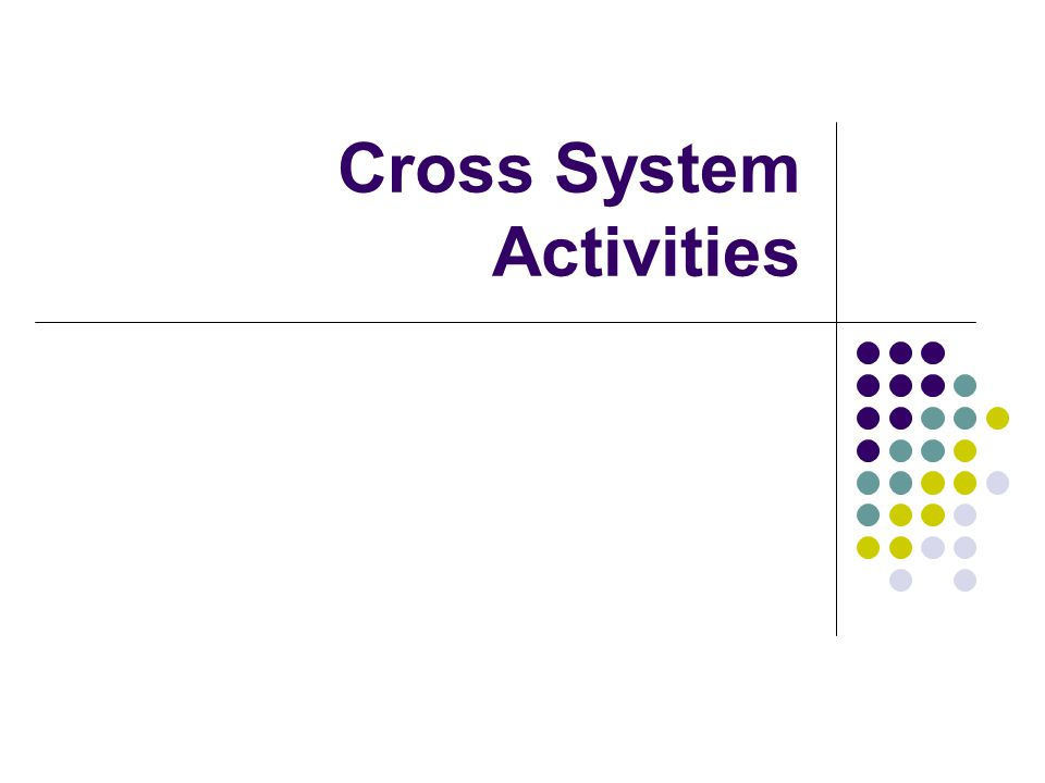 Cross System Activities