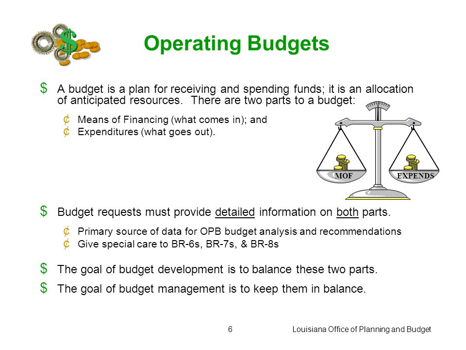 Louisiana Office of Planning and Budget46 For more information, please visit the Office of Planning and Budget website at: http://www.doa.state.la.us/opb/index.htm http://www.doa.state.la.us/opb/index.htm Look for: Executive Budget Documents LaPAS Performance-based Budgeting Forms and Guidelines MANAGEWARE: A Practical Guide to Managing for Results Links to performance-based enabling legislation and appropriation acts