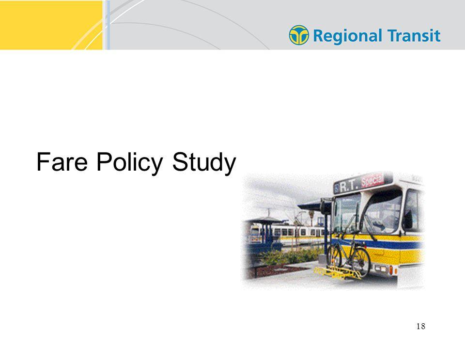 18 Fare Policy Study