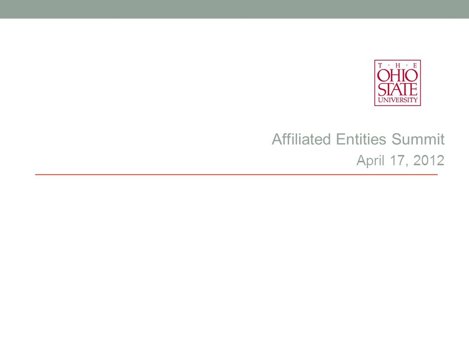 Affiliated Entities Summit April 17, 2012
