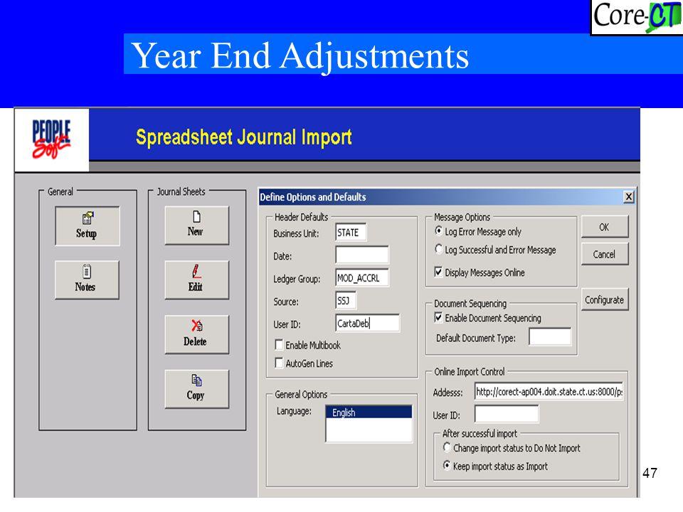 47 Year End Adjustments