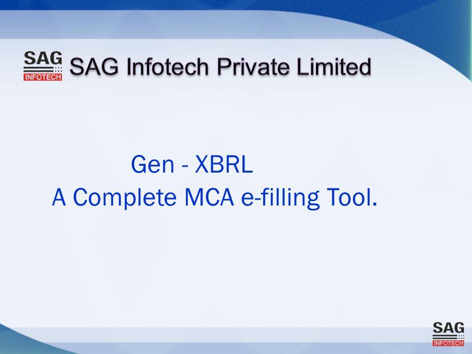 Gen - XBRL A Complete MCA e-filling Tool.
