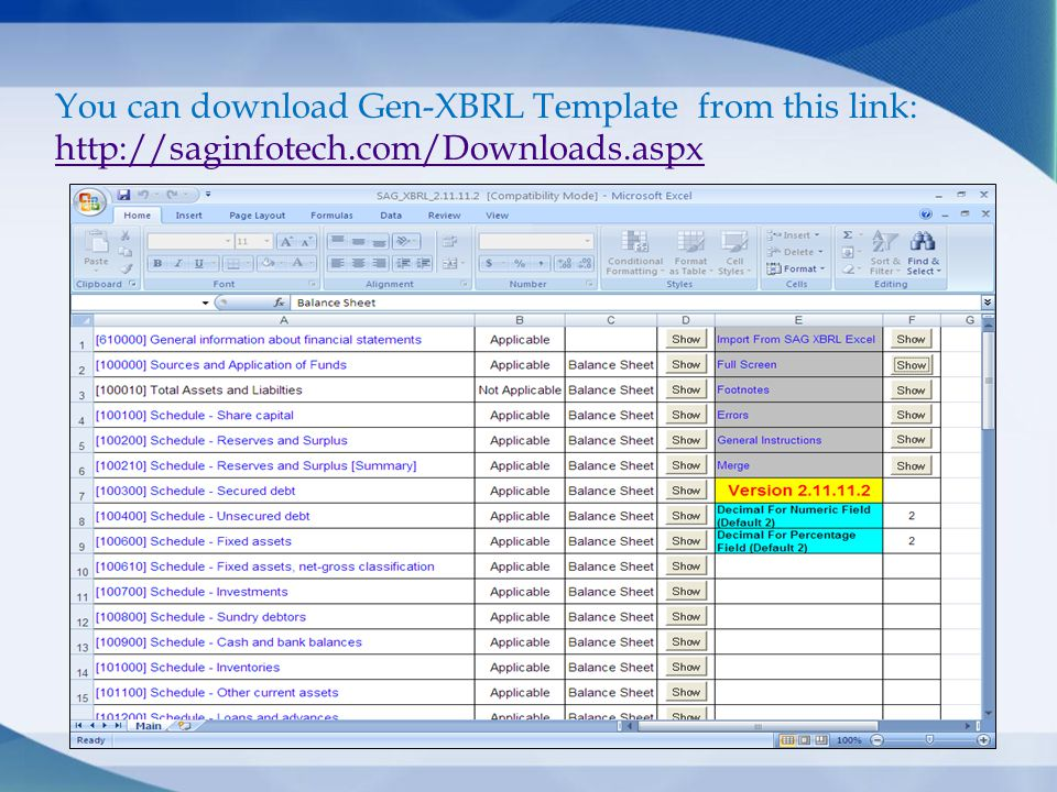 You can download Gen-XBRL Template from this link: http://saginfotech.com/Downloads.aspx