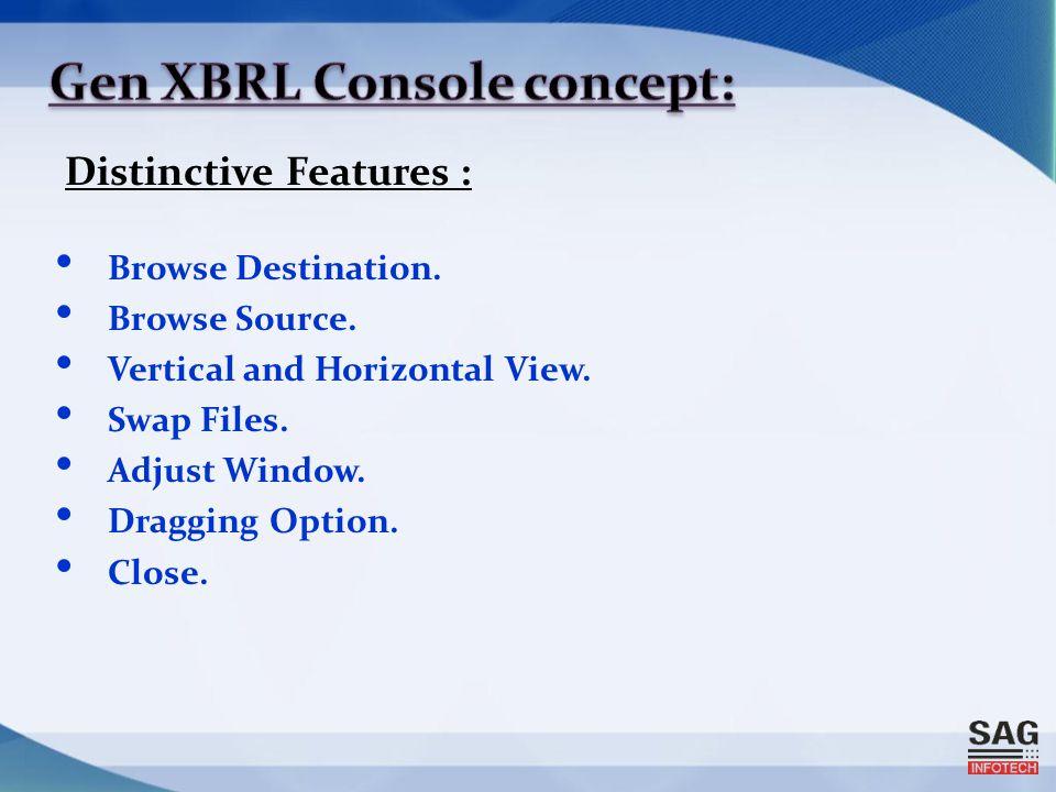 Distinctive Features : Browse Destination. Browse Source.