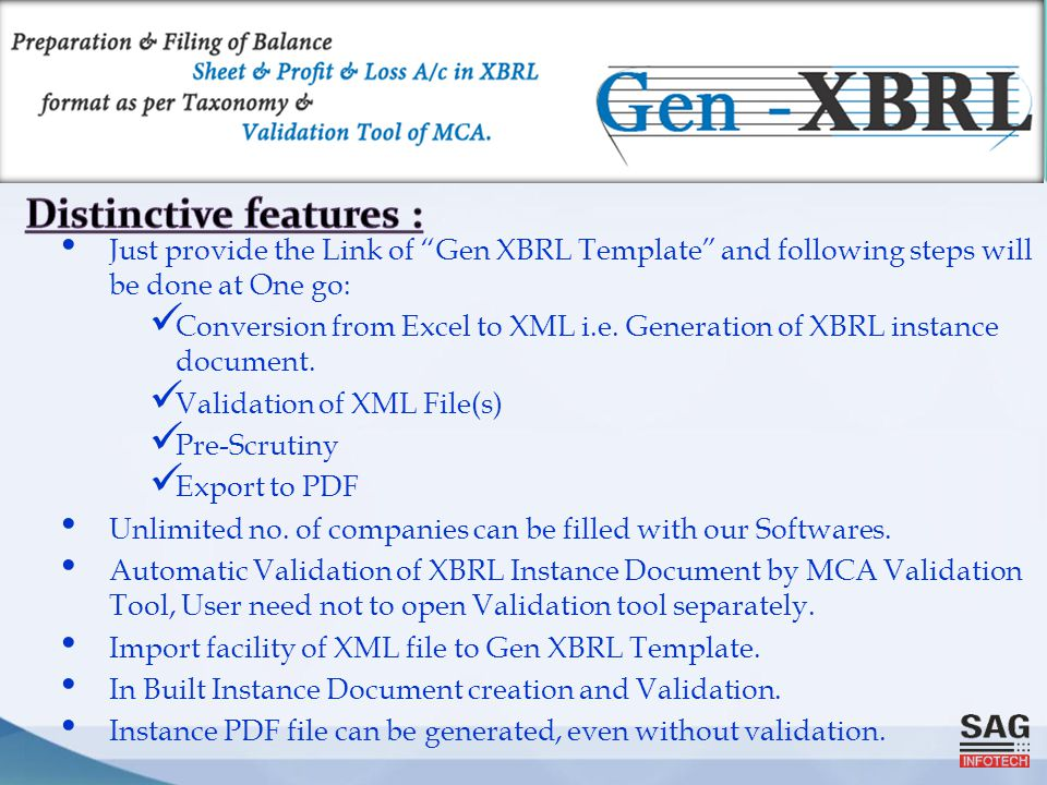 """Just provide the Link of """"Gen XBRL Template"""" and following steps will be done at One go: Conversion from Excel to XML i.e. Generation of XBRL instance"""
