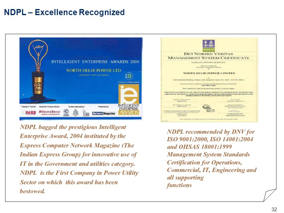 32 NDPL – Excellence Recognized