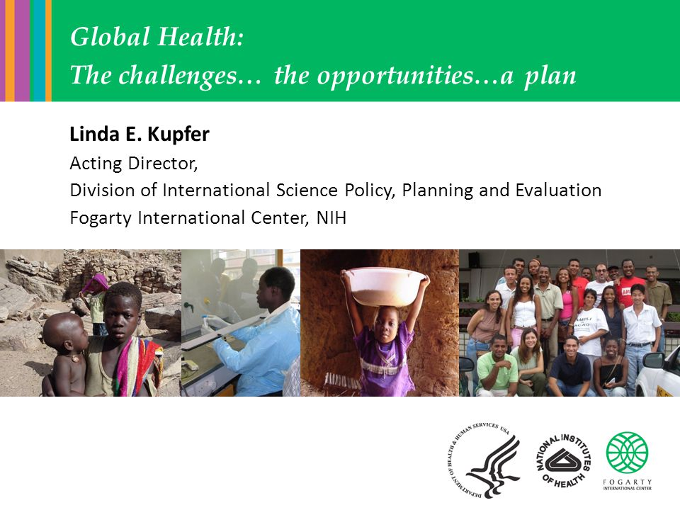 Linda E. Kupfer Acting Director, Division of International Science Policy, Planning and Evaluation Fogarty International Center, NIH Global Health: Th