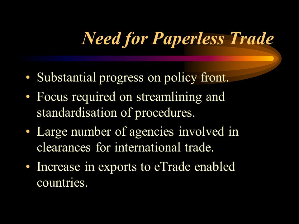 Efficient, transparent, secure electronic delivery of services by trade regulatory/facilitating agencies.