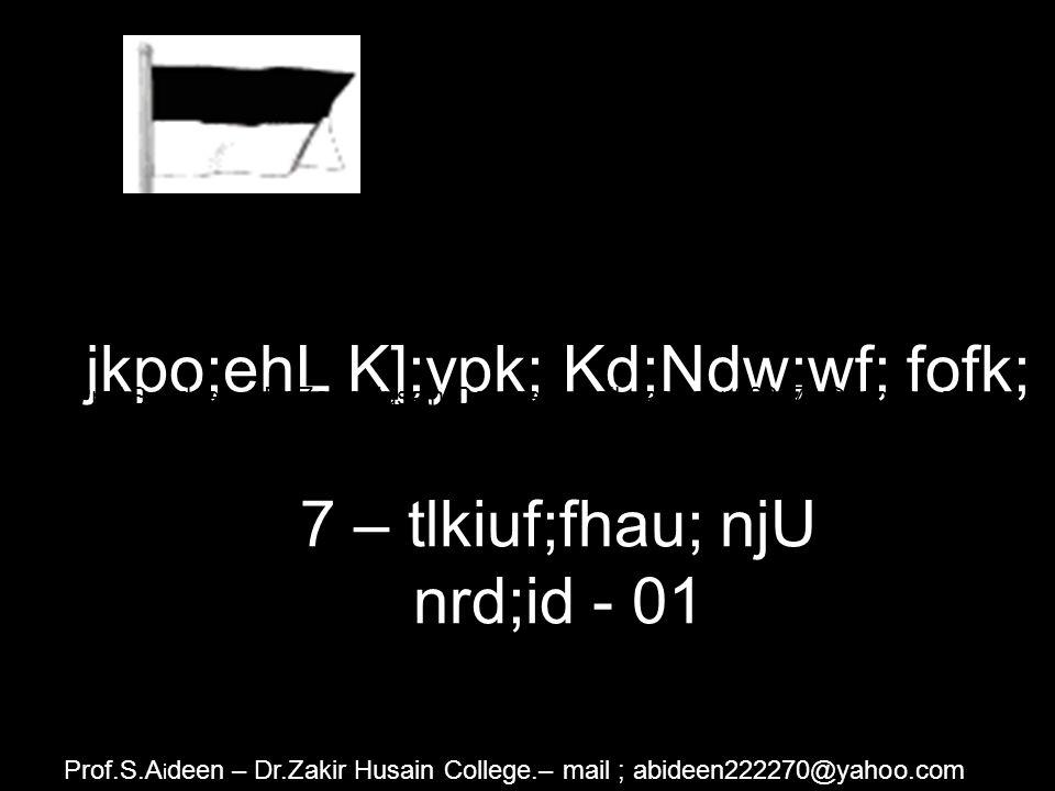 jkpo;ehL K];ypk; njhz;L,af;fk; 118 / B – Ntg;Ngup neLQ;rhiy nrd;id - 03 Prof.S.A i deen – Dr.Zakir Husain College.– mail ; abideen222270@yahoo.com