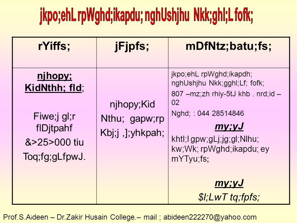 rYiffs;jFjpfs;mDfNtz;batu;fs; rpW fld; mjpfgl;rkhf &>10>000 tiu Toq;fg;gLfpwJ.